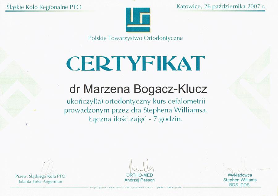 Marzena Bogacz- Klucz