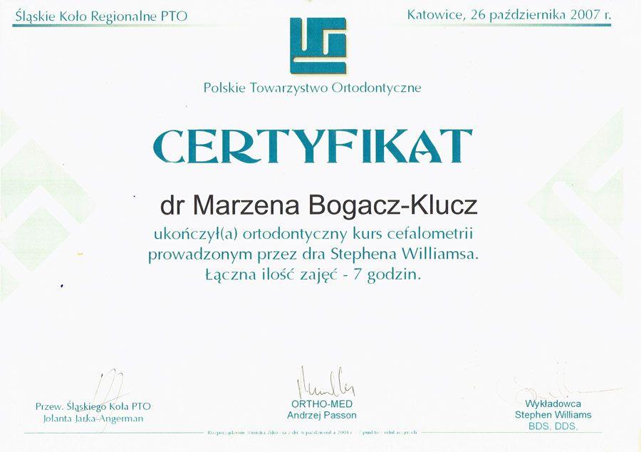 Marzena Bogaczová - Kľúč